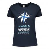 Women's WSSC glitter logo T-shirt /Navy blue